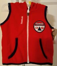 Youth Reebok Red Hooded Vest 1896 New with Tags 6-9 Months