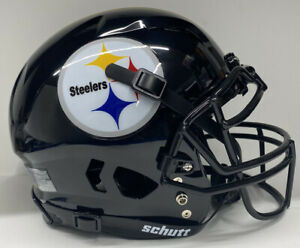 Pittsburgh Steelers Custom Full Size Authentic Schutt  Vengeanc Football Helmet