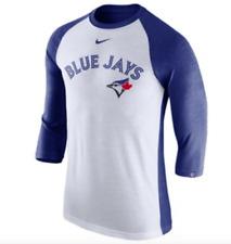 Men's Toronto Blue Jays White/Navy Tri-Blend Raglan 3/4-Sleeve T-Shirt X-Large