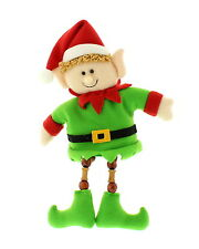 Elf Shelf Sitter Beaded Leg Christmas Gift Mantelpeiece Shelf Sitting Decoration