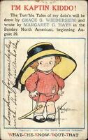 Grace Wiederseim & Margaret Hays - Sunday North American Advertising Postcard