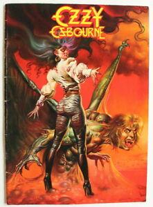 OZZY OSBOURNE WORLD TOUR 1986 CONCERT PROGRAM BOOK Heavy Metal Ultimate Sin