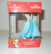 NIB Disney Frozen Elsa Hallmark Blue Dress Sparkle Ornament Christmas