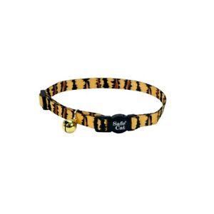 "Coastal Safe Cat Nylon Adjustable Breakaway Collar  3/8"" X 8""-12 choose color"