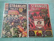 STRANGE TALES #136 & #140! GD/VG! 2nd SHIELD! Dr Strange! Nick Fury! Marvel 1965