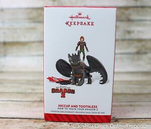 2014 Hiccup and Toothless How To Train Your Dragon 2 Hallmark Keepsake Ornament