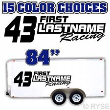Custom Your Name Racing Number Trailer Graphic Decal Car IMCA Model Sprint Stock