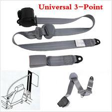 1X Adjustable Retractable 3 Point Seat Belt Lap For Car Autos Seat Safety Belt