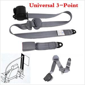 1X Adjustable Retractable 3 Point Seat Belt Lap For Car Autos Seat Safety Belt