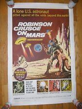 Robinson Crusoe On Mars ORIGINAL 1964 1-SHEET LINENBACKED POSTER Adam West