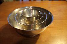 Four Gorham Silverplated Nesting Bowls