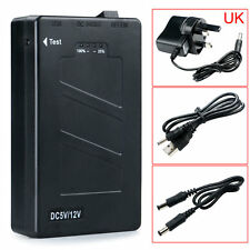 DC 12V 2In1 Portable Rechargeable 8000Mah Li-ion Battery Pack UK Adapter