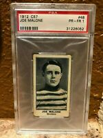 1912 C57 I T C Hockey #48 Joe Malone HOF PSA 1