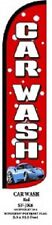 Car Wash Windless Standard Size Polyester Swooper Flag Sign Banner