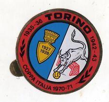 CALCIO  ADESIVO  TORINO   COPPA  ITALIA  1970-71    CM 6,5  CM  DI DIAMETRO
