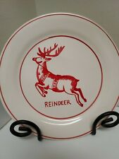 """Molly Hatch ~8.5""""  REINDEER Salad/Dessert Plate, New with tag"""