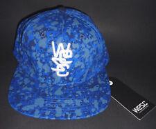 MENS WESC BLUE SNAPBACK ADJUSTABLE HAT CAP ONE SIZE