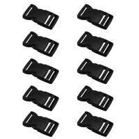 Black Buckle Plastic Clip For Craft Webbing Bag Strap 25mm Side Release