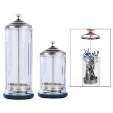 Glass Disinfecting Jar For Barber Salon Barbicide Sterilizing Tool Glass Bottle