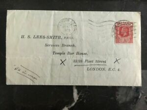 1928 Nigeria Commercial Cover To Temple Bar House London England