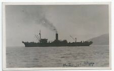 HMS HOLDFAST Cable Laying Ship WW2 OPERATION PLUTO PC-size RP Card