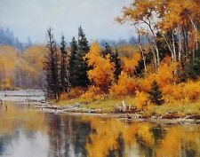 """Clyde Aspevig, """"Pond in Autumn"""", (1998), poster, Image 22'h x 28""""w"""