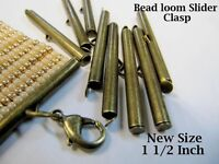 8 Piece//4 Sets 1 1//2 Inch Silver End Caps Slider Clasps