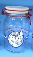 "Anchor Hocking Pillsbury Doughboy Poppin Fresh Storage Medium 7.8"" Canister Jars"