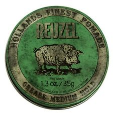 REUZEL GREEN PIGLET POMADE GREASE MEDIUM HOLD 35g FREE SHIPPING