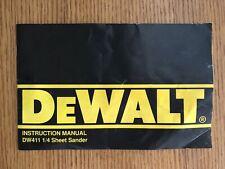 Dewalt Instruction Manual - DW411 1/4 Sheet Sander