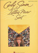 "CARLY SIMON ""LETTERS NEVER SENT"" PIANO/VOCAL/GUITAR MUSIC BOOK BRAND NEW ON SALE"