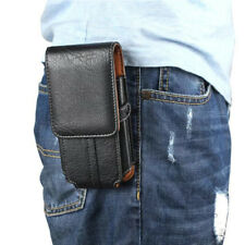 PU Leather Holster Belt Clip Pouch Vertical Pocket Buckle Case For Cell Phone