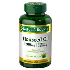 Nature's Bounty Flaxseed Oil Omega 3 Softgels 125ct 074312133213a722