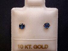 Feinste Saphir Ohrstecker - 3 mm - 10 Kt. Weißgold - 417 - Ohrringe Brillant Cut
