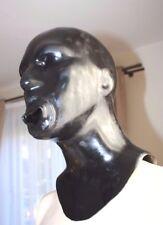 Latexmaske Mundhülle, Reißverschluß, Zip, Latex-Maske, rubber mask, MH0,7