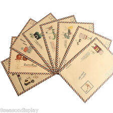 8pcs Retro Leather Paper Craft Envelopes DIY Scrapbooking Gift 17.5x12.2cm