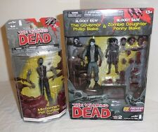 The Walking Dead Action Figure Lot Governor Penny Michonne's Pet Zombie Mike NEW