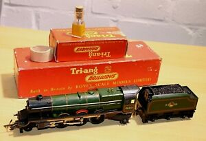 Vintage 1958 Triang R53 & R31 Green Princess Loco, 4-6-2 & Tender, RN 4601 Boxed