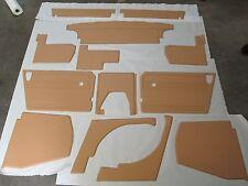 New 13 Piece Interior Panel Set w Door Panels MG Midget 1970-79 Biscuit Made UK