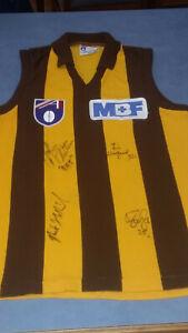 Rare Signed Sekem Hawthorn Hawks MBF jumper AFL retro John Platten, Holland,