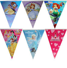 PRINCESSES FLAG BANNER BUNTING GARLANDS BIRTHDAY PARTY SUPPLIES DECORATION