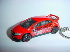 NEW 3D RED HONDA CIVIC Si CUSTOM KEYCHAIN keyring key DOHC vTEC TYPE R BLING