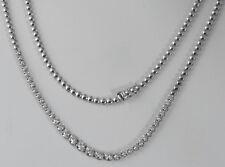 "1.50 Ct Round Graduated Diamond Half Way Tennis Women's Necklace 18k Gold 16.5"""