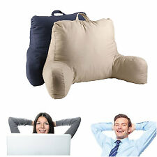 Bed Rest Pillow Back Support Arm Stable TV Reading Backrest Cushion Khaki