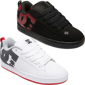 DC Shoes Mens Court Graffik Leather Low Top Skater Trainers Sneakers Shoes