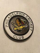 Phildelphia Cricket Club Members White Gun Metal Golf Ball Marker Coin Medallion