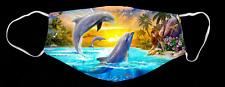 Tropical Dolphins Ocean Life Custom Face Mask