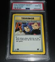 PSA 10 GEM MINT Here Comes Team Rocket! 15/82 1ST EDITION HOLO RARE Pokemon Card