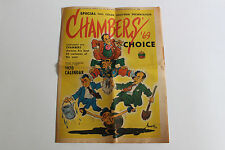1970 Bob Chambers cartoon paper calendar