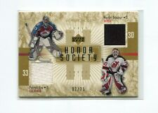 2001-02 UD Honor Roll Honor Society Gold #HSRB Patrick Roy/Martin Brodeur  02/25
